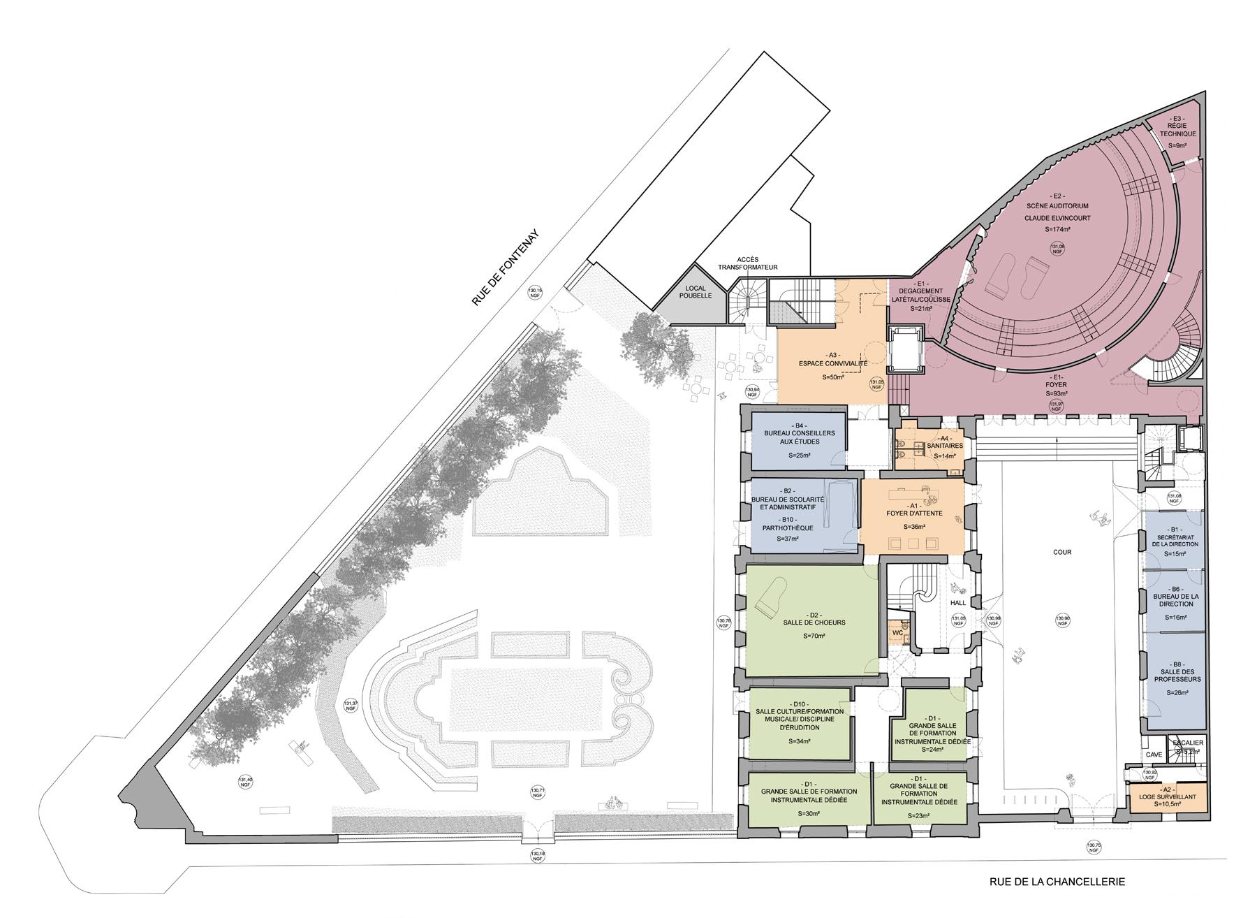 Conservatoire rayonnement r gional de versailles dda for Architecte des batiments de france versailles