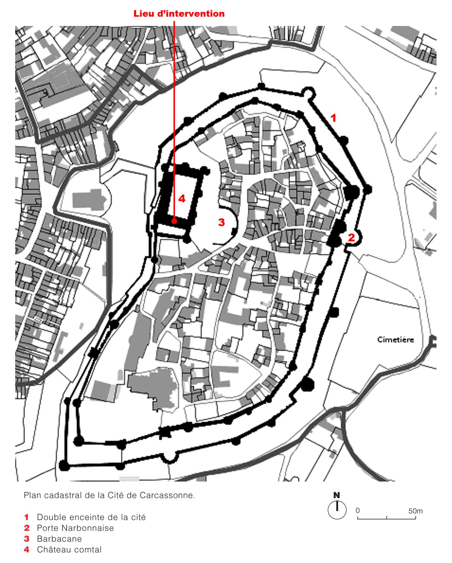 Carcassonne Ch 226 Teau Comtal Dda Architectes